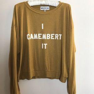 Wildfox Camembert Long Sleeve Tee SZ S NWT